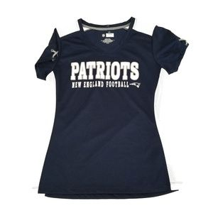 Women's Blue Patriots Jersey with Lace Up Detail